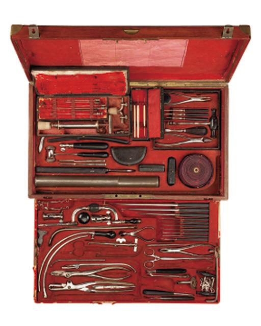 A 19th-Century part surgical set,