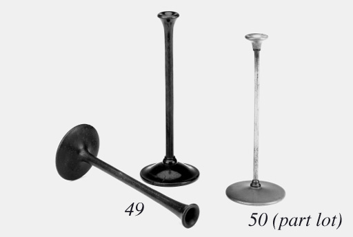 A 19th-Century fruitwood monaural stethoscope,