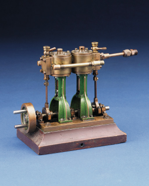 A well engineered brass model Stuart double 10V launch engine