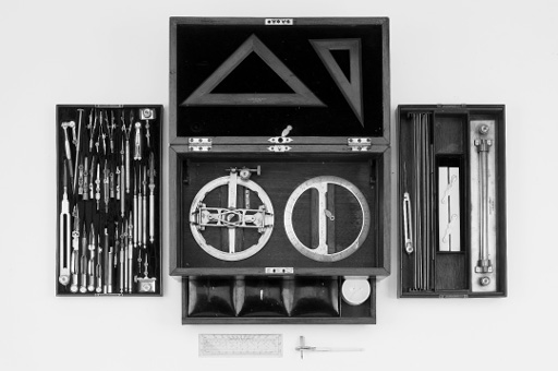 A late 19th-Century architect's drawing set,