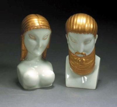 A pair of Ginori busts