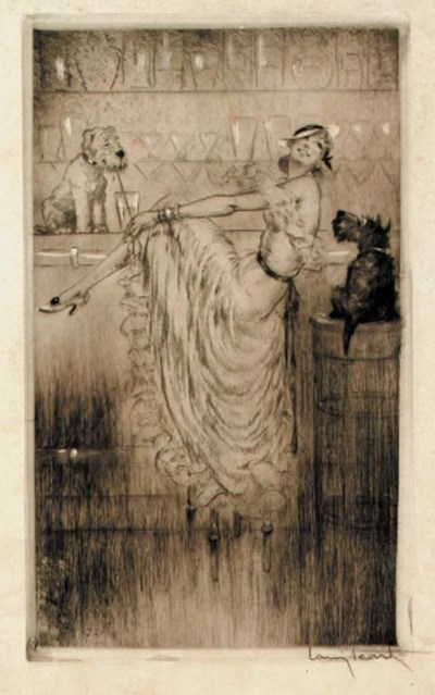 'Au Bar' by Louis Icart