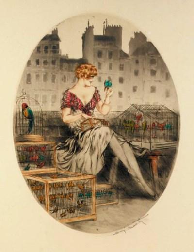 'Bird Seller' by Louis Icart