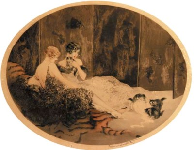 'Spilled Milk' by Louis Icart