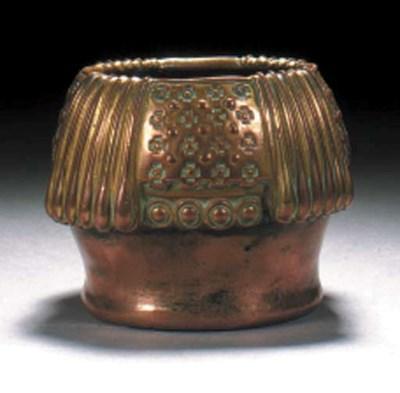 A copper bowl