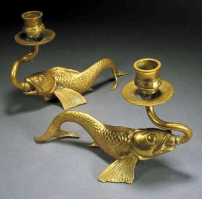 A pair of Tiffany & Co. gilt b