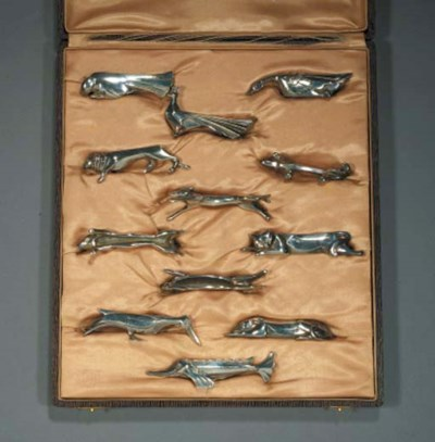 A set of twelve Gallia silvere
