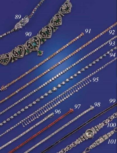 A CARTIER DIAMOND LINE NECKLAC