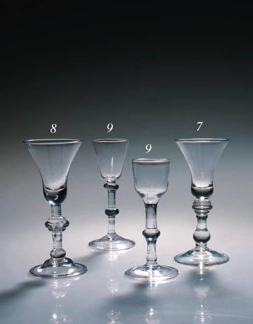 A balustroid wine glass