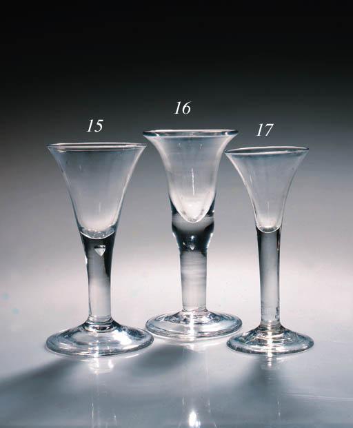 A plain-stemmed wine glass