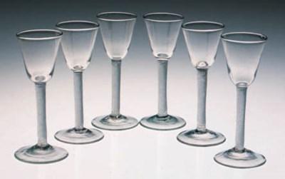 Six airtwist wine glasses
