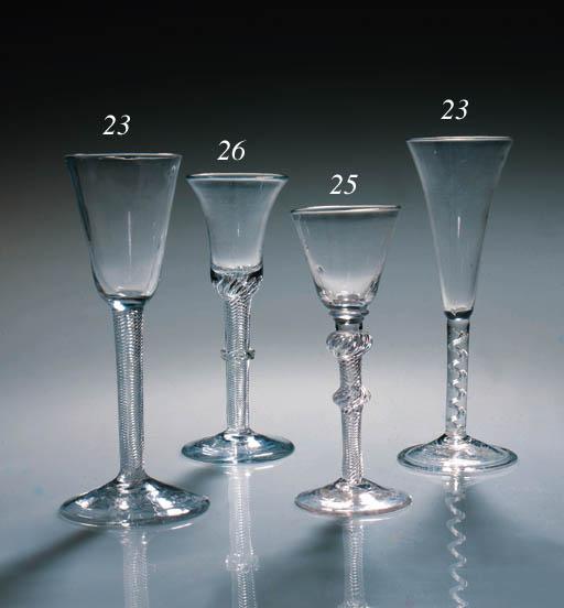 Three airtwist wine glasses