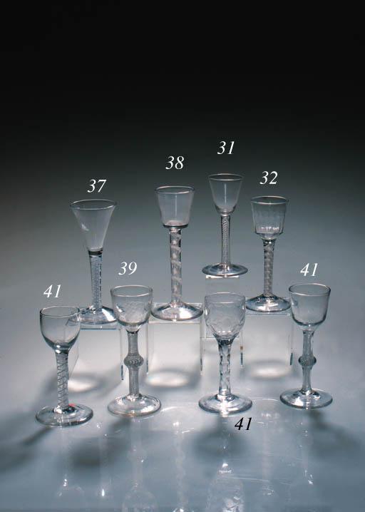 An opaque-twist wine glass