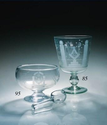 A large Masonic goblet