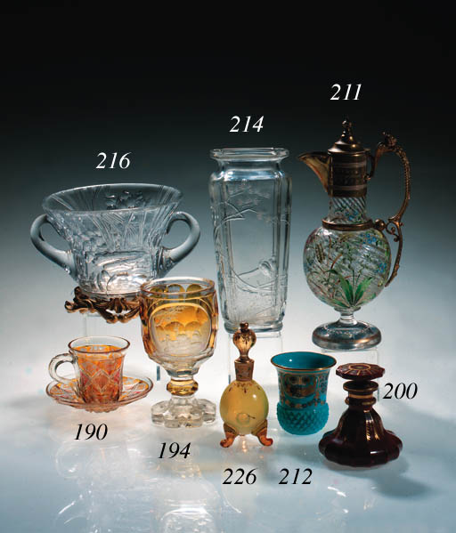 A Baccarat engraved lobed rect