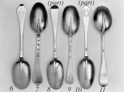 Five spoons including: