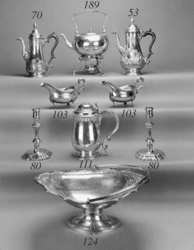 A George III coffee pot,