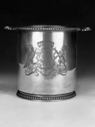 A George II wine cooler,