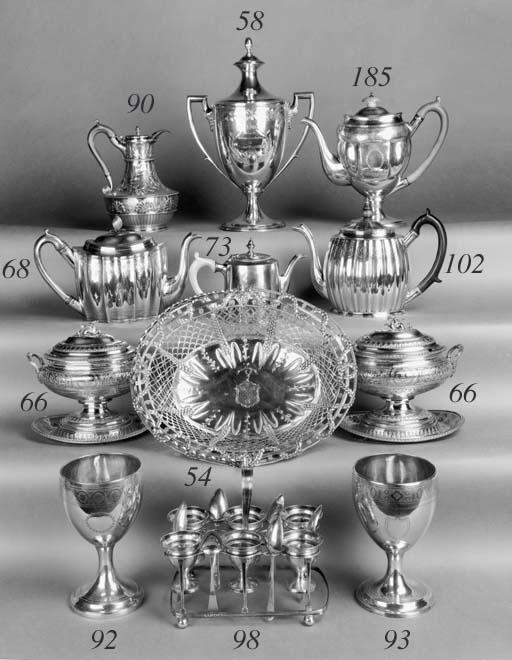 A George III silver-gilt teapo