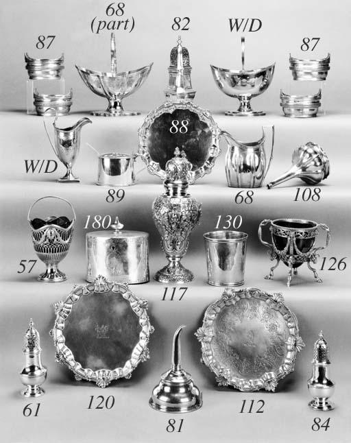 A set of four George III salts