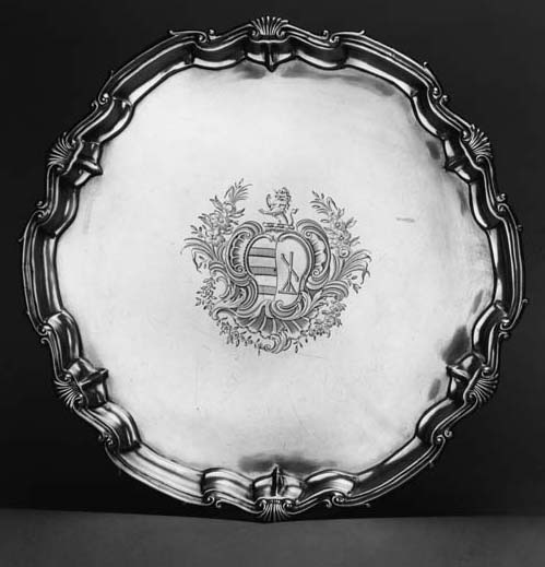 A George II salver,