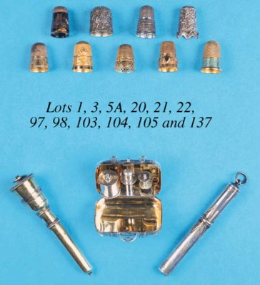A silver-gilt combination thim