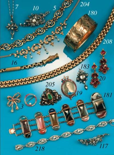 An antique gold bracelet,
