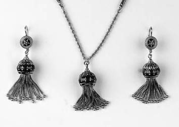 A continental, enamel necklace