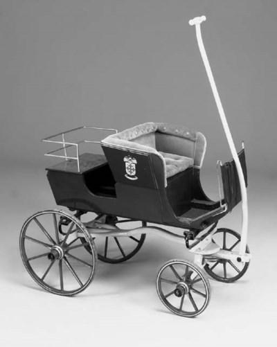 A children's wooden cart, Engl