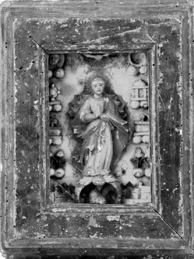 A sculpted alabaster panel of