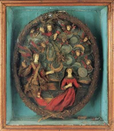 A wax annunciation group, 18th