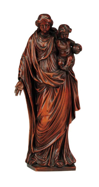 A German carved boxwood figure