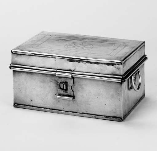 A Victorian brass spice box