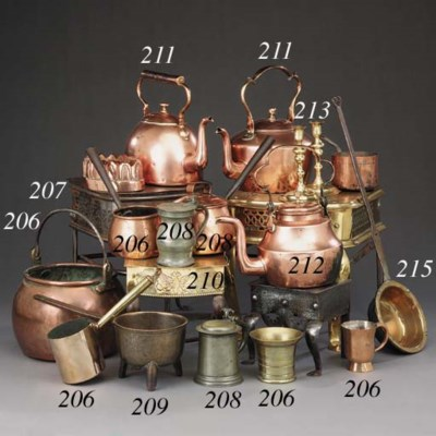 Two copper kettles, first half