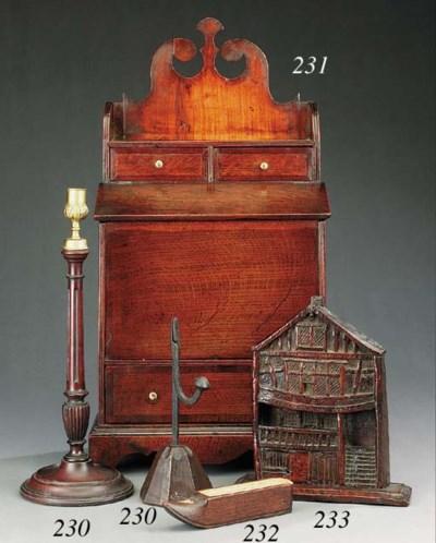 A  mahogany and bone cribbage