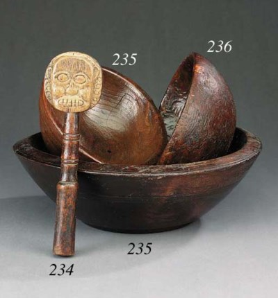 A burr wood bowl, perhaps earl