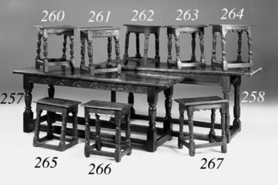 An oak refectory table, Englis