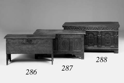An oak chest, Dorset, late 17th century