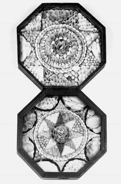 A shellwork display, 19th cent