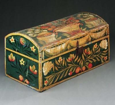 A polychrome wood chest, Centr
