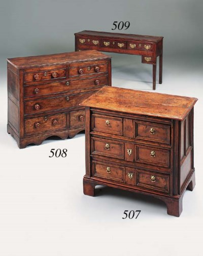 A sycamore chest, English, ear