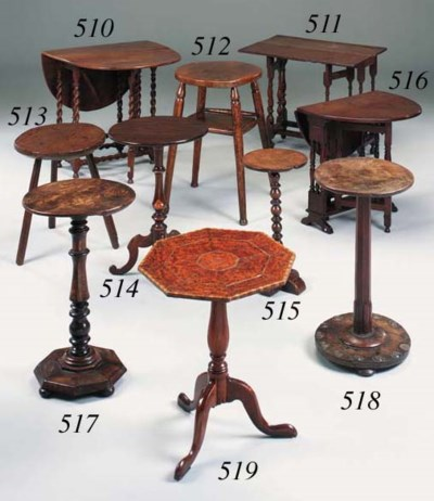 An elm occasional table, Engli