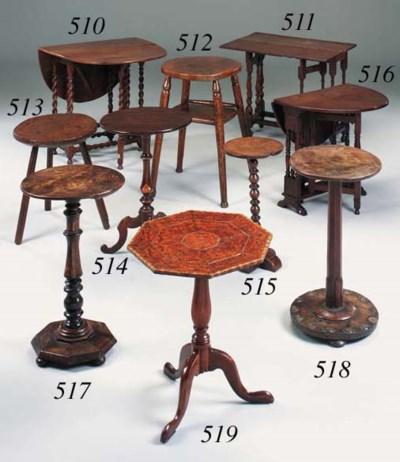 An oak primitive cricket table