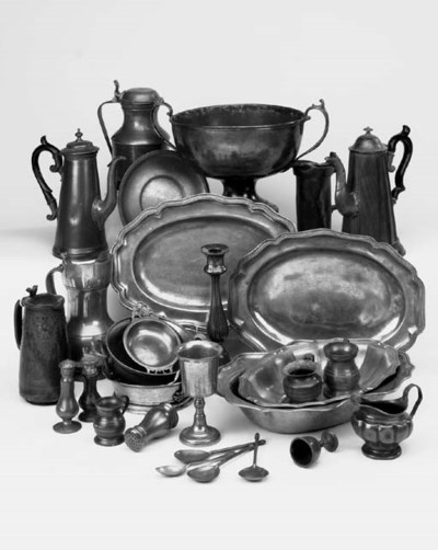 A quantity of various pewter i