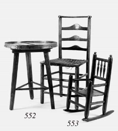 An oak cricket table, late 19t