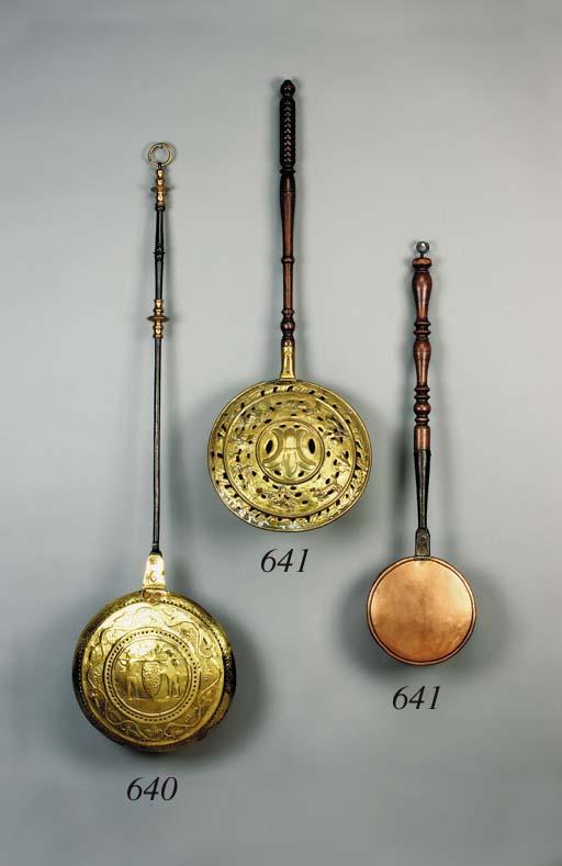 A Central European brass warmi