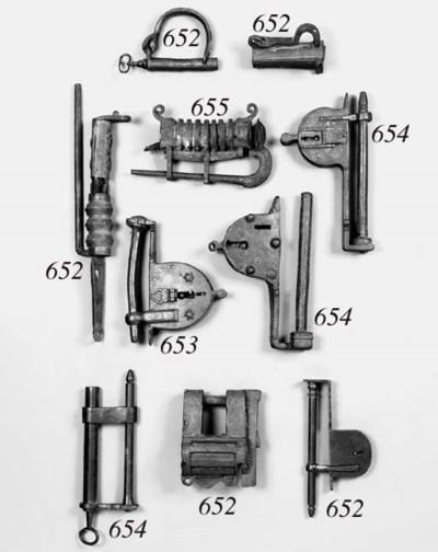 An Alpine padlock, 17th centur