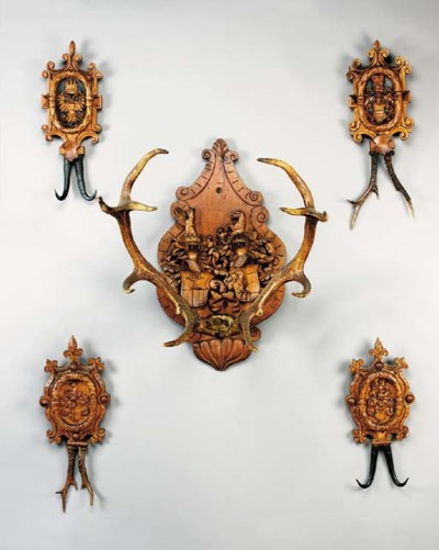 A Swiss carved fruitwood armor