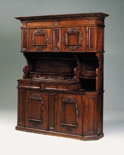 A walnut dresser, Swiss, 18th
