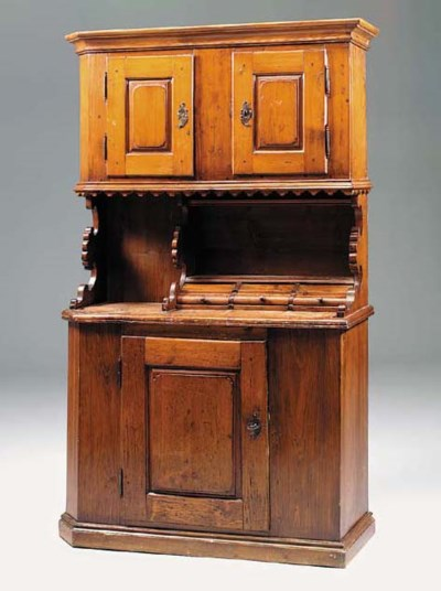 A beechwood and pine dresser,